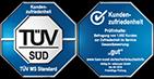 Die Kundenzufriedenheit bei reifencom ist vom TÜV SÜD geprüft und mit der Note 1,7 (05/2020) ausgezeichnet worden.
