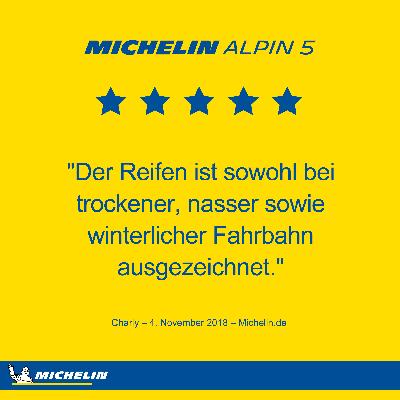 Michelin Alpin 5 Ratings