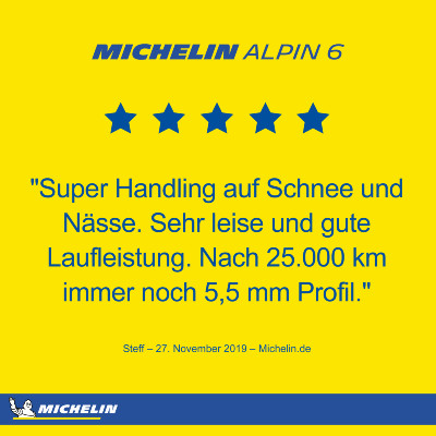 Michelin Alpin 6 Winterreifen Rating
