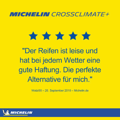 Michelin Crossclimate+ Ratings