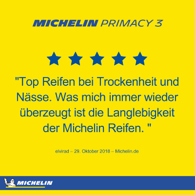 Michelin Primacy 3 Langlebigkeit