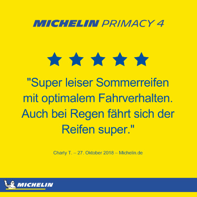 Michelin Primacy 4 Ratings