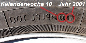 DOT-Nummer: Wie genau erkannt man das Reifenalter ...