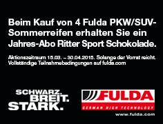 Fulda und Ritter Sport