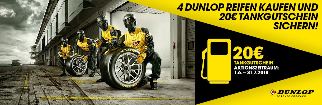 Dunlop Tankgutschein