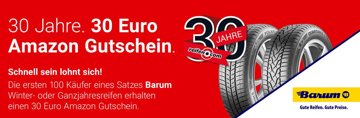 Barum Aktion 30 Euro Amazon Gutschein