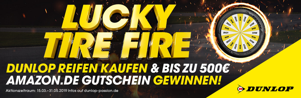 Dunlop Lucky Tire Fire Promotion