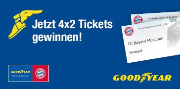 Mit Goodyear FCB-Tickets gewinnen