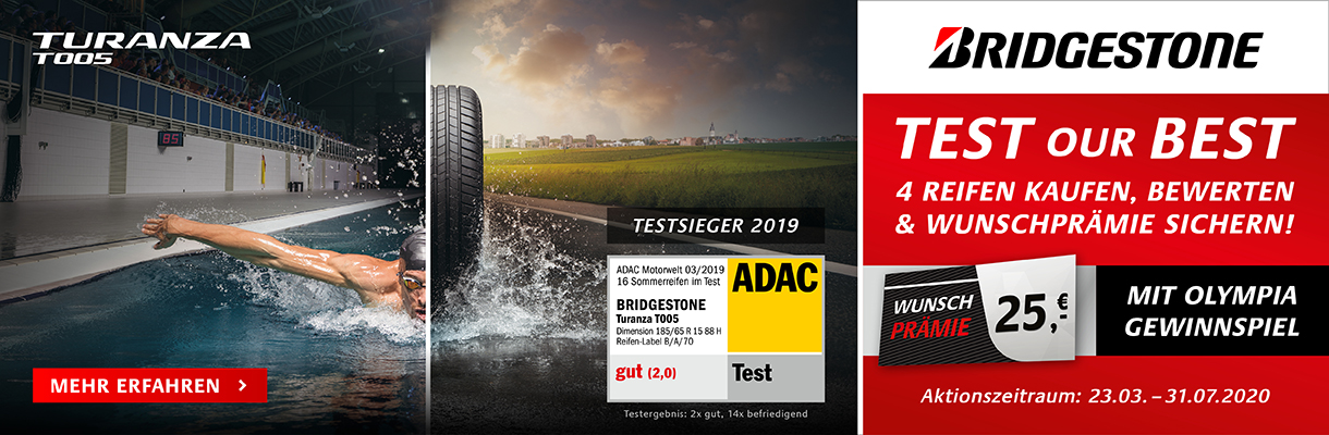 Bridgestone Test Our Best 2020