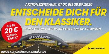 Dunlop Cashback 20 Euro