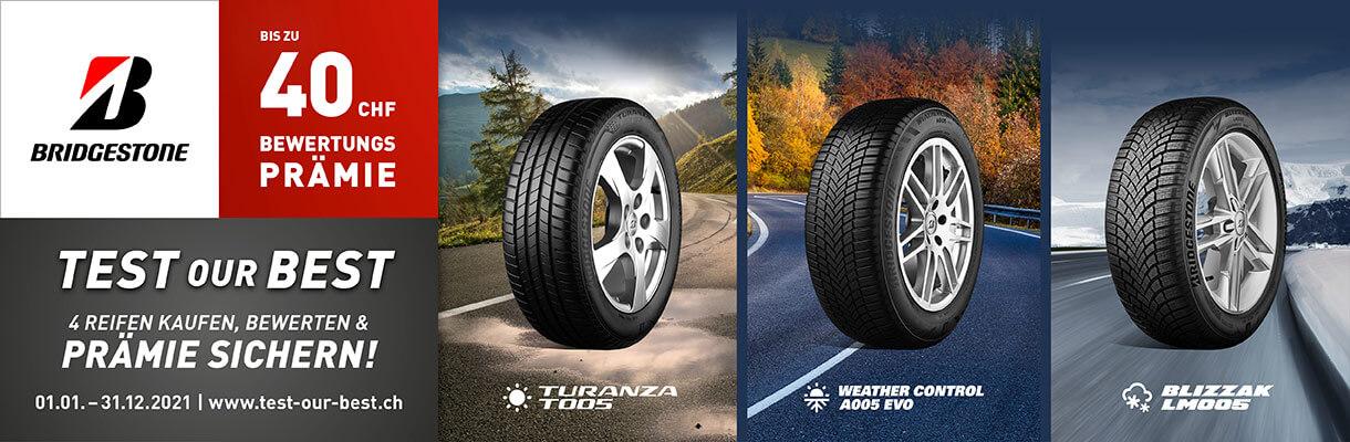 Bridgestone Test Our Best 2021 - Swiss / Schweiz