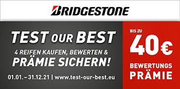 Bridgestone TEST OUR BEST 2021 Deutschland