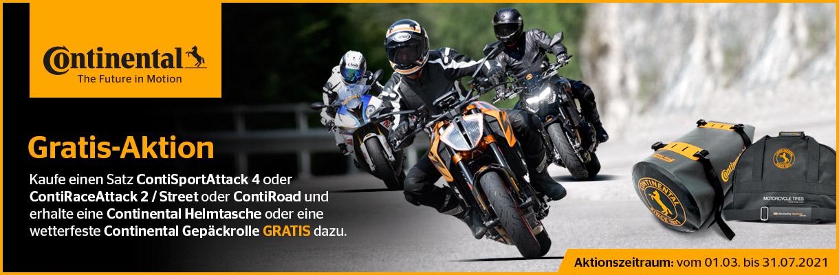 Banner Conti Motorradreifen Geschenke Gratis