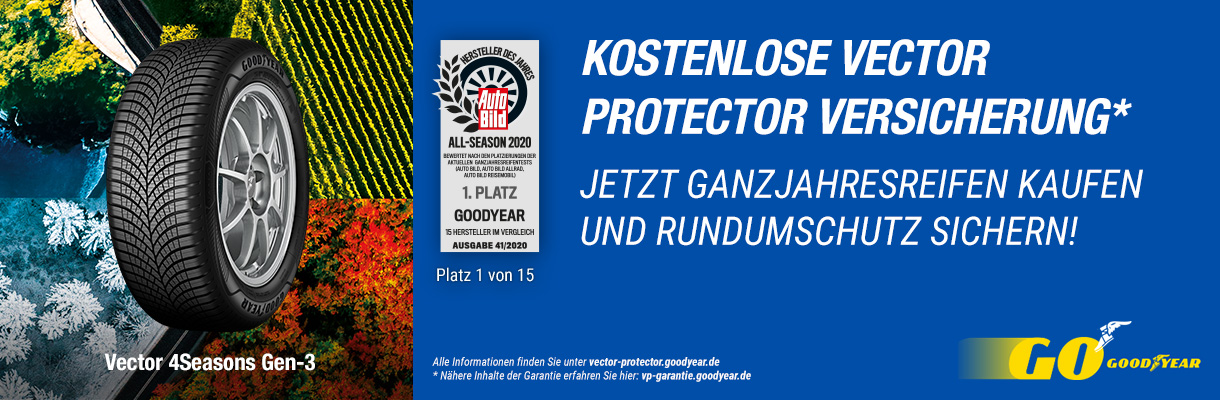 Vector Protector Goodyear Versicherung Banner