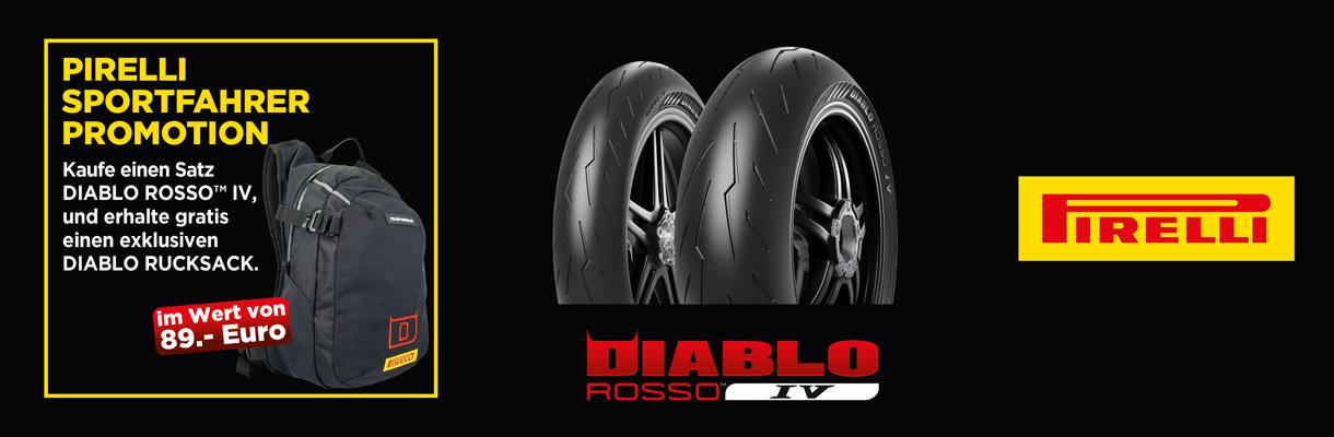 Banner Pirelli Motorradreifen Promo Gewinnspiel