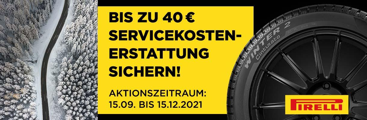 Pirelli Servicekostenerstattung Winter 2021