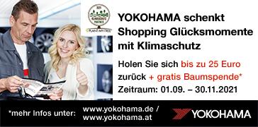 Yokohama - Cash Back Aktion HW 2021 Banner