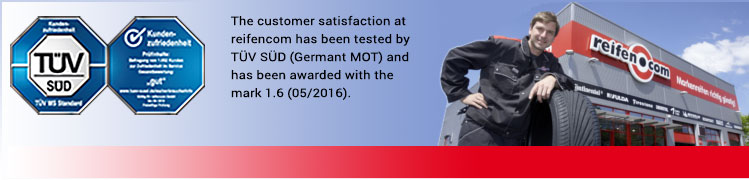 reifen.com customer satisfaction mark 1,7