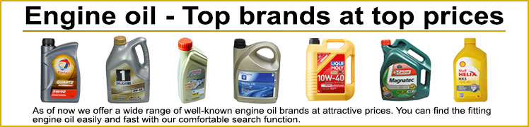Engine oil - Top brands at top prices